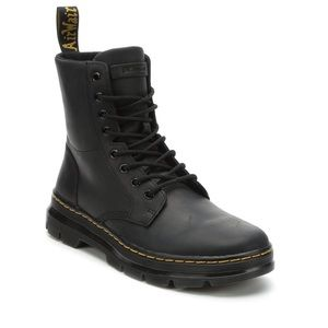 Dr Martens Black Combs Leather Wyoming Boots New